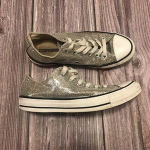 Converse Sequin Glitter Shoes Size 7